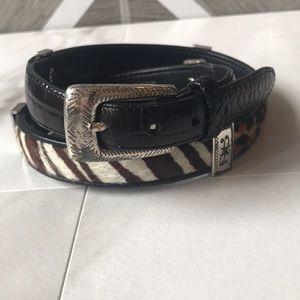 Brighton animal print belt black